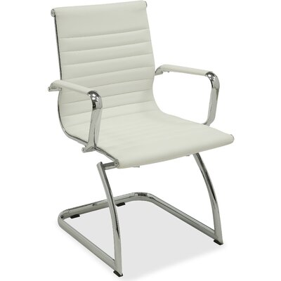 Modern Guest Chair Seat Color: White