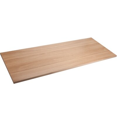 Quadro Sit/Stand Straight Edge Table Top Color: Latte