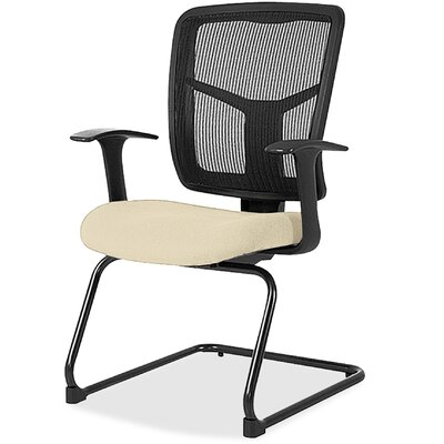 Adjustable Arms Mesh Guest Chair Seat Color: Beige
