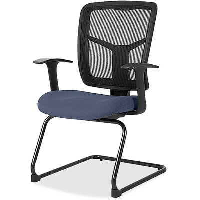 Adjustable Arms Mesh Guest Chair Seat Color: Blue