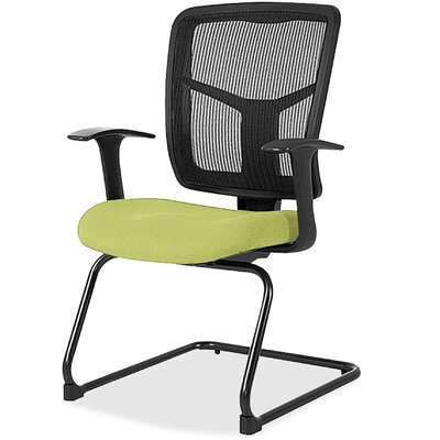 Adjustable Arms Mesh Guest Chair Seat Color: Green