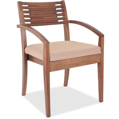 Guest Chair Seat Color: Walnut/Beige