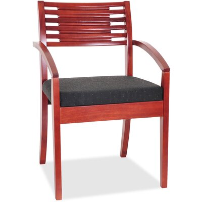 Guest Chair Seat Color: Cherry/Black