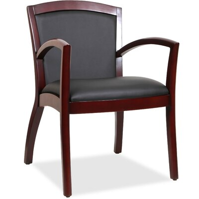 Arched Arms Guest Chair Finish: Black Espresso