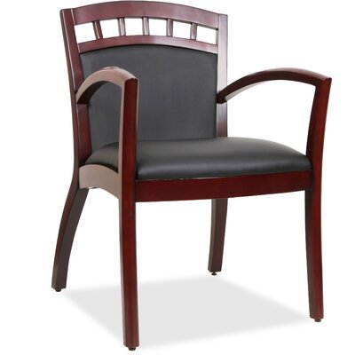 Crowning Accent Guest Chair Finish: Black Espresso