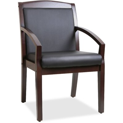 Sloping Arms Guest Chair Finish: Black Mahogany