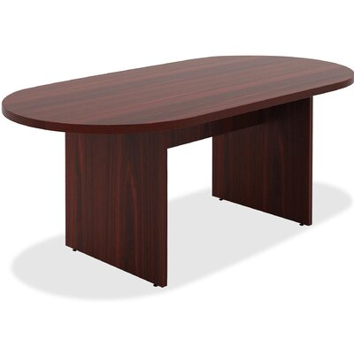 Chateau Racetrack/Oval 38.6W x 74.4L Conference Table Finish: Mahogany