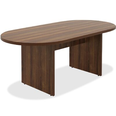 Chateau Racetrack/Oval 38.6W x 74.4L Conference Table Finish: Walnut