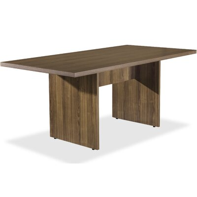 Chateau Rectangular 38.6W x 74.4L Conference Table Finish: Walnut