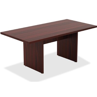 Chateau Rectangular 38.6W x 74.4L Conference Table Finish: Mahogany