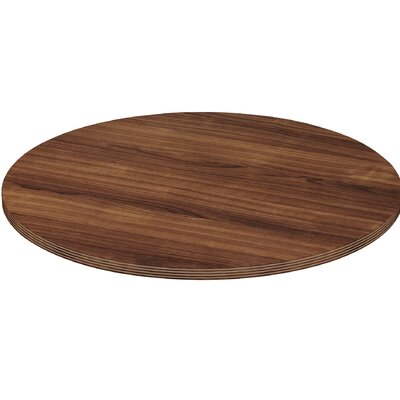Chateau Conference Table Top Size: 3.3 H x 50.4 W x 50.4 D, Finish: Walnut