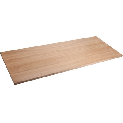 Quadro Straight Edge Table Top Color: Latte