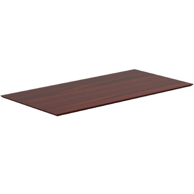 Electric Height-Adjustable Knife Edge Table Top Color: Mahogany