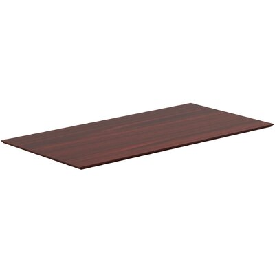 Electric Height-Adjustable Table Top Color: Mahogany
