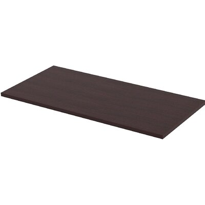 Height Adjustable Utility Table Top Color: Espresso