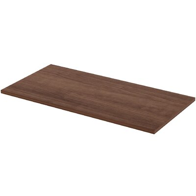 Height Adjustable Utility Table Top Color: Walnut