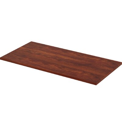 Height Adjustable Utility Table Top Color: Cherry