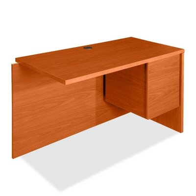 Lorell 68000 Series 30 H x 48 W Right Desk Return FInish: Cherry