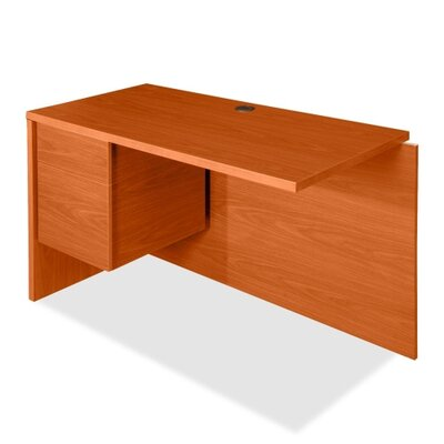 Lorell 68000 Series 30 H x 48 W Left Desk Return FInish: Cherry