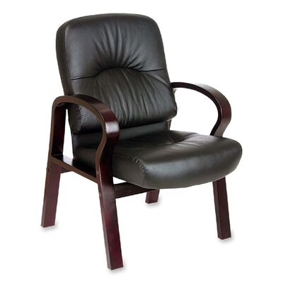 Lorell Woodbridge Series Leather Guest Chairs
