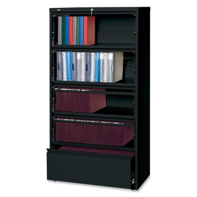 Receding Lateral Files Open Filing Unit Finish: Black