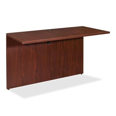 29.5 H Desk Bridge Size: 48 W x 24 D, Finish: Mahogany