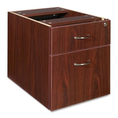 21 H x 16 W Desk File Pedestal Finish: Mahogany
