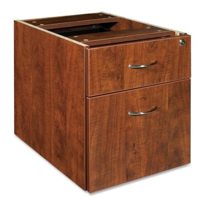 21 H x 16 W Desk File Pedestal Finish: Cherry