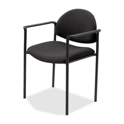 Fabric Reception Guest Chair Color: Black