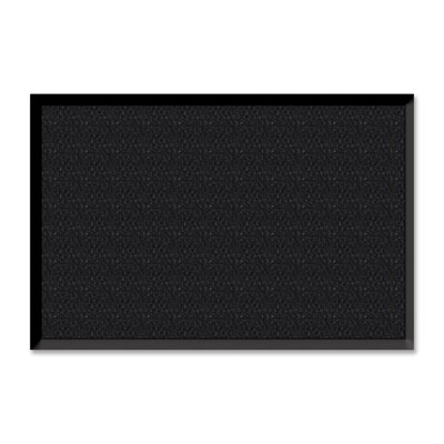 Solid Doormat Color: Charcoal Black, Mat Size: Rectangle 48 x 72