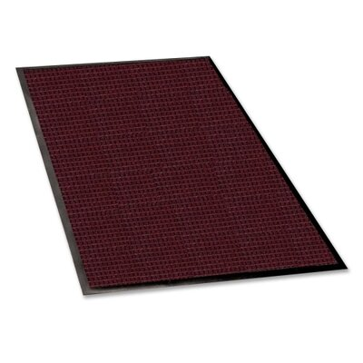 Burgundy Solid Mat Rug Size: 4 x 6