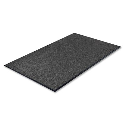 Charcoal Solid Doormat Rug Size: 4' x 6'