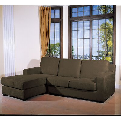 Reversible Chaise Sectional Upholstery: Sage Green