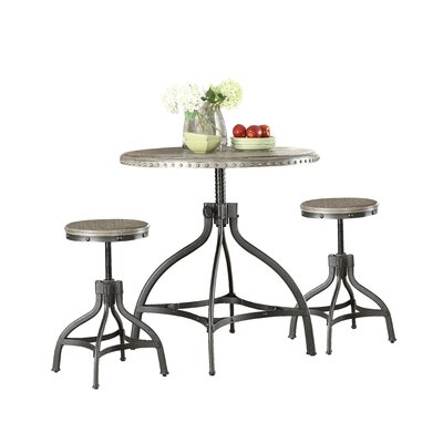 Kason Fatima 3 Piece Adjustable Counter Height Set with Stool Seating Finish: Gray Oak (Stool)