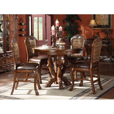 Welliver Traditional Counter Height Upholstered Dining Chair