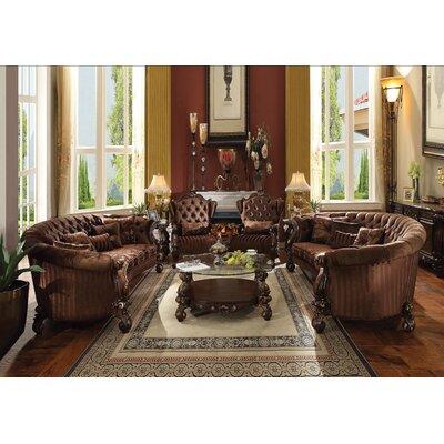 Welton Sofa Upholstery: Brown Velvet/Cherry Oak