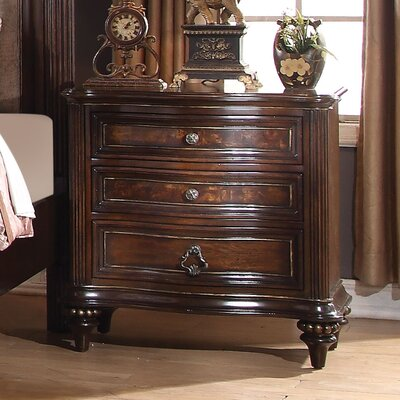 Wentzel 3 Drawer Nightstand