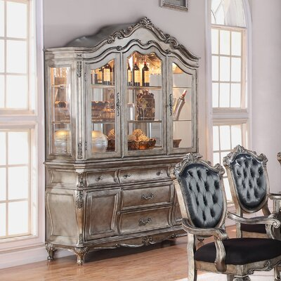 Wensley Lighted China Cabinet Color: Antique Platinum
