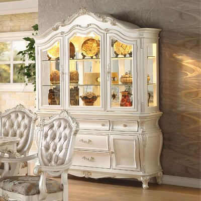 Wensley Lighted China Cabinet Color: Pearl White