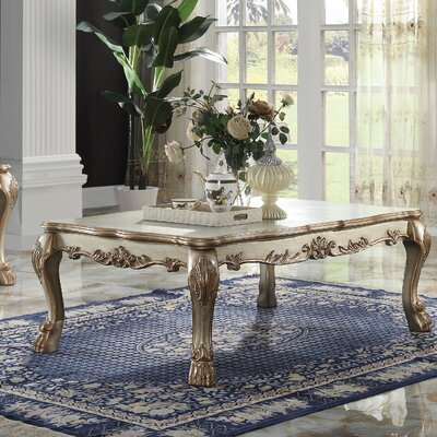 Welliver Coffee Table Color: Gold Patina