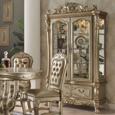 Welliver China Cabinet Color: Gold Patina/Bone
