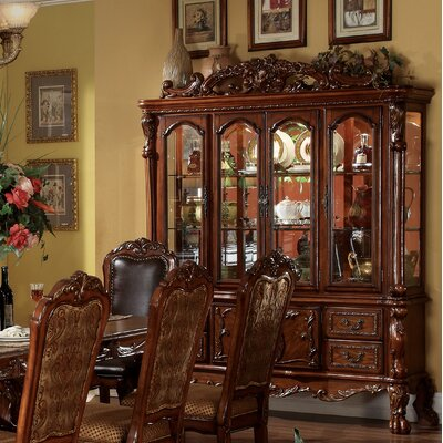 Welliver Lighted China Cabinet Color: Cherry Oak