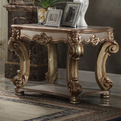 Welles Traditional End Table Color: Gold Patina