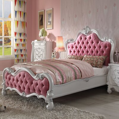 Clara Upholstered Panel Bed Size: Queen