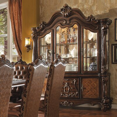 Welton Lighted China Cabinet Color: Cherry Oak