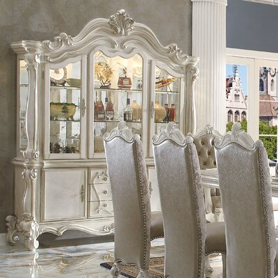 Welton Lighted China Cabinet Color: Bone White