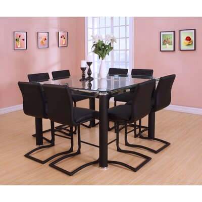 Len Counter Height Dining Table Base Color: Black