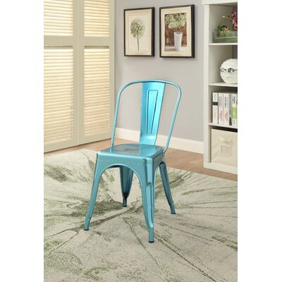Hufford Upholstered Dining Chair Color: Blue