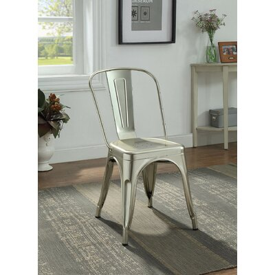 Hufford Upholstered Dining Chair Color: Champagne