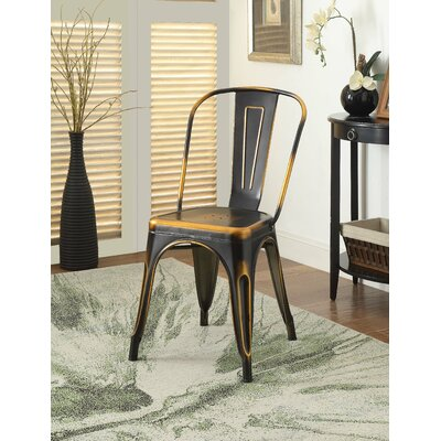 Hufford Upholstered Dining Chair Color: Retro Copper